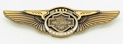 Harley Davidson 110Th Anniversary Wings Vest Pin  ** Discontinued  **