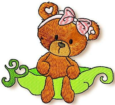 Sweetpea Bears 6 Machine Embroidery Designs Cd 2 Sizes Included