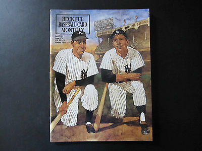 Beckett Baseball Card Monthly - June 1991 - NY Yankees DiMaggio / Mantle
