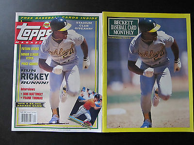 Lot of two/ Beckett / Topps Baseball Card Monthly - Oakland A's Rickey Henderson