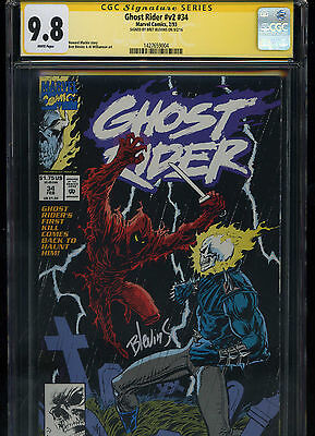 Ghost Rider #v2 #34 CGC 9.8 SS Signed by Bret Blevins (1993) Only SS copy