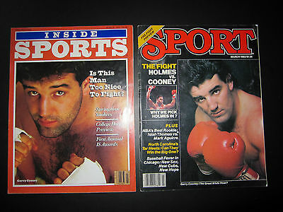 Lot of Two (2) Sport Magazines featuring Boxer Gerry Cooney