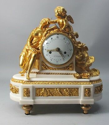 Early 19th C. French Empire LOUIS BERTHOUD Gilt Bronze Clock  c. 1825  antique