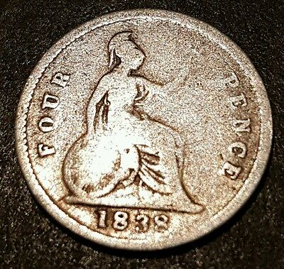 1838 GROAT - Fourpence  VICTORIA Collectable grade  POST FREE