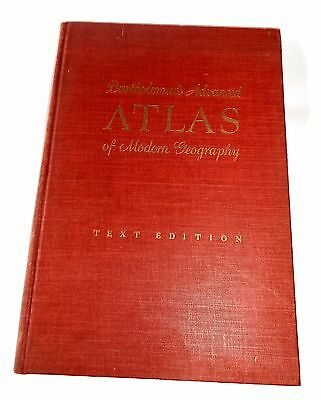 Bartholomew's Advanced Atlas Of Modern Geography Colored Maps Text Edition 1956