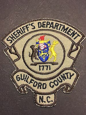 Guilford County North Carolina  Sheriff Shoulder  Patch