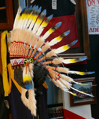 #736 Quality Native American Indian Chief Feather war bonnet Headdress 1 size