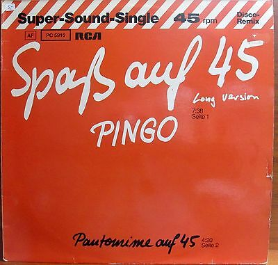 Maxi-Single -  Pingo  = Spass Auf 45  /  Pantomime Auf 45