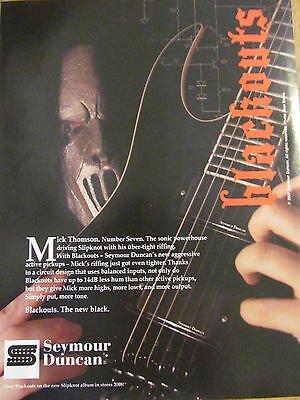 Slipknot, Mick Thompson, Seymour Duncan Pickups, Full Page Promotional Ad