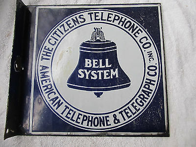Citizens  Telephone & Telegraph Sign Payphone Old Phone Bell System