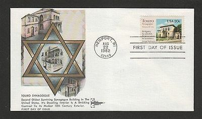 Touro Synagogue Oldest Jewish Synagogue In America Gill Craft Cachet 1982 Fdc