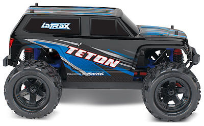 Traxxas 76054-1 LaTrax Teton 1/18 4WD RTR Truck w/ Radio/Battery/Charger, BLUE