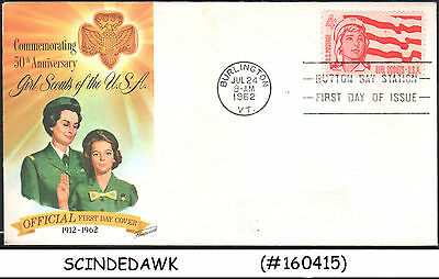 USA - 1962 50th ANNIVERSARY OF GIRL SCOUTS OF THE USA - FDC
