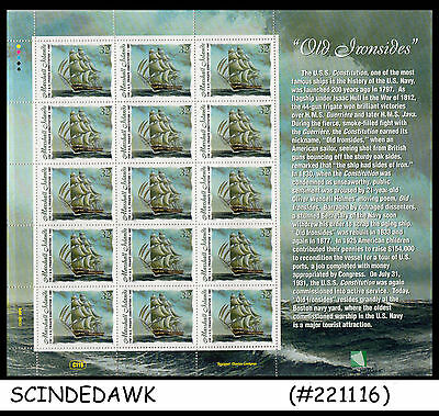 Marshall Islands - 1997 Old Ironsides / Ships - Sheetlet - Mint Nh