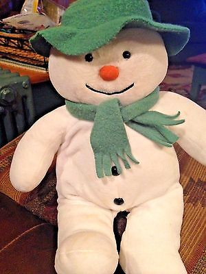 "15"" Raymond Briggs The Snowman Plush Stuffed Toy By Eden Toys"