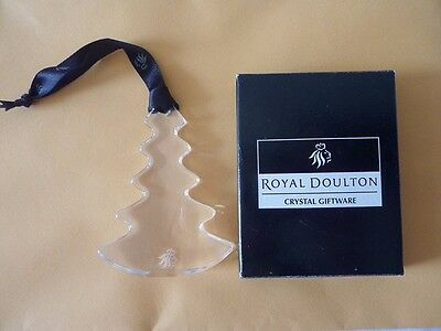 Royal Doulton Crystal Christmas Tree Decoration Mint with Box Ornament