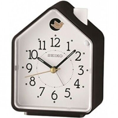 Bedside Beep Alarm or 2 Birds Song Clock Black and White Brand New