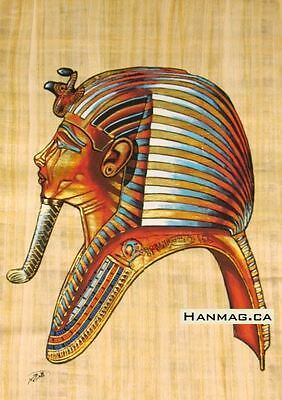 Egyptian Papyrus Painting Poster + King Tutankhamen + 16X24 Inches + Handmade #4