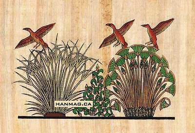 Egyptian Papyrus Painting - Ducks in Papyrus Marsh #87