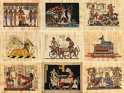 "100 Egyptian Papyrus Paintings 4X6"" + Over 100 Assorted Scenes + Hand Painted"