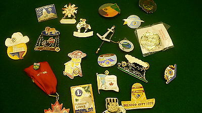Lions club collector convention pin lot 19 USA Canada Mexico 1970's