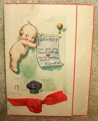 Early 1900's Rose O'Neill Kewpie Valentine's Day Card