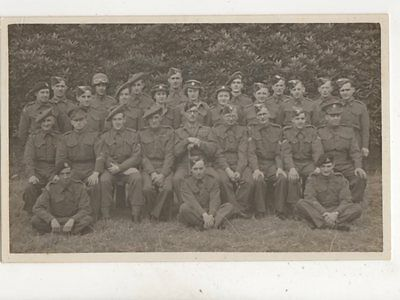 Military Group Photo Scottish Vintage RP Postcard 358b