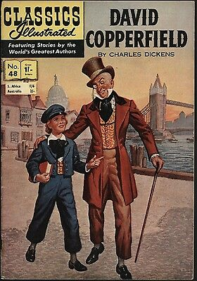CLASSICS ILLUSTRATED #48 DAVID COPPERFIELD 1st UK EDITION HRN 115  NICE SHAPE