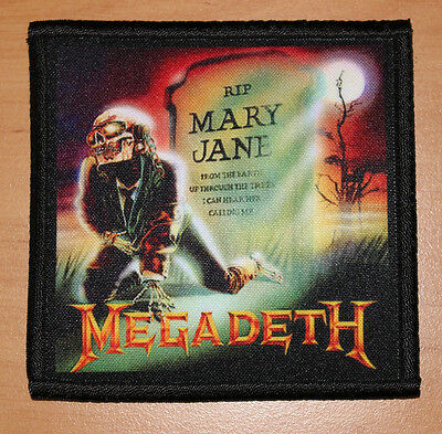 "MEGADETH ""MARY JANE"" silk screen PATCH"