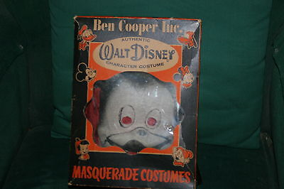 VINTAGE 1940'S or 50'S MICKEY MOUSE BEN COOPER HALLOWEEN COSTUME in ORIGINAL BOX