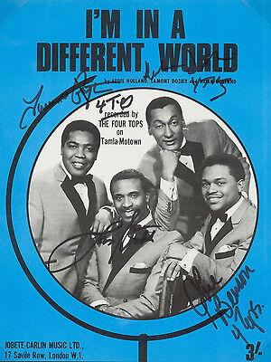 THE FOUR 4 TOPS Signed Sheet Music Cover - Pop / Soul / Motown Group - Preprint