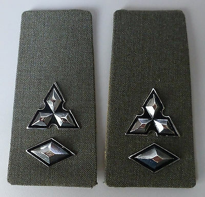 SOUTH WEST AFRICA ARMY LIEUTENANT- COLONEL DRESS  EPAULETTES metal DIAMONDS