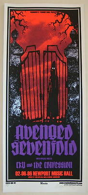 2006 Avenged Sevenfold - Silkscreen Concert Poster S/N by Mike Martin