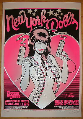 2009 New York Dolls - Orlando - Silkscreen Concert Poster S/n by Stainboy