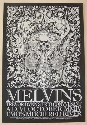 2004 The Melvins - Austin Silkscreen Concert Poster by Jared Connor