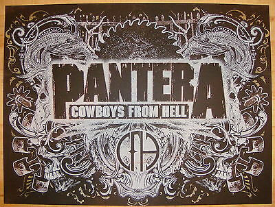 2010 Pantera - Silkscreen Concert Poster by Jared Connor