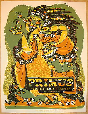 2013 Primus - Maplewood Silkscreen Concert Poster by Guy Burwell s/n