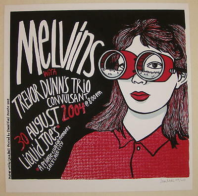 2004 The Melvins - Salt Lake City Silkscreen Concert Poster s/n by Leia Bell