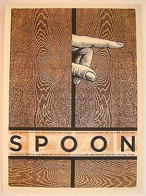2010 Spoon - Richmond Silkscreen Concert Poster a/p by Nate Duval & Jon Smith