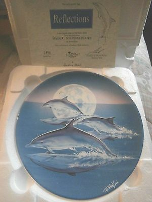 Danbury Mint Magical Dolphin Plate  Reflections    New In Box & Cert