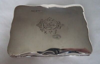 Antique 1917 Solid / Sterling Silver Aide Memoire / Purse