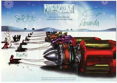 George Lucas Autographed Signed 1999 Lucasfilm Holiday Christmas Card JSA LOA