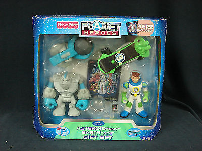 Fisher Price Planet Heroes Earth Ace Tiny Asteroid Rescue Figure New Gift Set