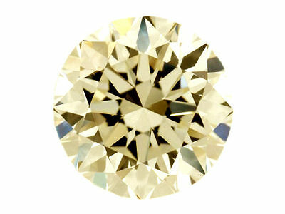 Genuine 1.26 tcw 7.01 mm light yellow color loose moissanite round brilliant cut