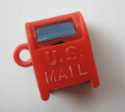 60's VINTAGE Plastic US MAIL BOX Gumball Charm Prize