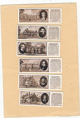 Typhoo Tea Part Set T11/25. Houses Of Famous Men..issued 1934