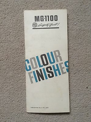 MG 1100  'Colour Finishes' Leaflet 1960s