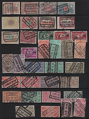 Belgium - Early Selection Of Railway Stamps - See Photo