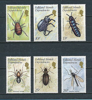 Falkland Islands IL66-71 MNH, Insects, 1982