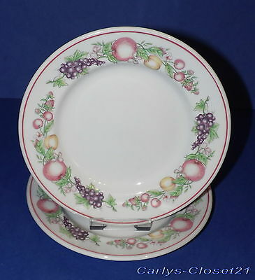 "BOOTS Orchard * 2 Pottery Side Plates *  7"" (17.5cm)  Diameter *"